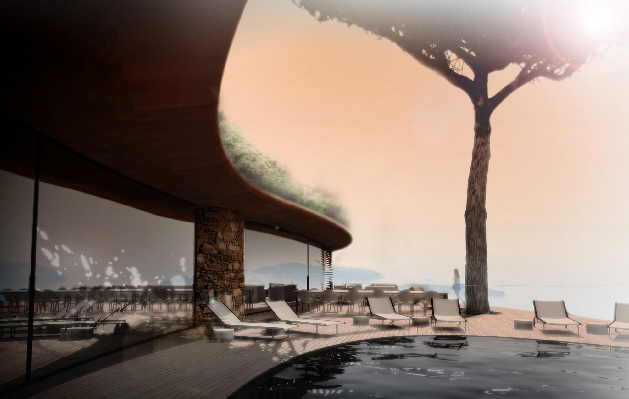 concept architectural d u0026 39 une maison moderne inscrite dans